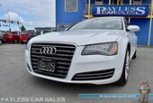 2012 Audi A8 L / AWD / 4.2L V8 / Heated & Ventilated Leather Seats / Heated Steering Wheel / Navigation / Night Vision / Bose Speakers / Sunroof / Bluetooth / Back Up Camera / 28 MPG