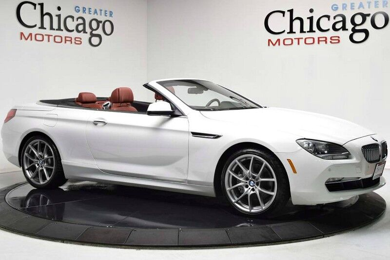 2012_BMW_650i Cab White On Red!_20 Wheels~full leather dashboard_ Chicago IL