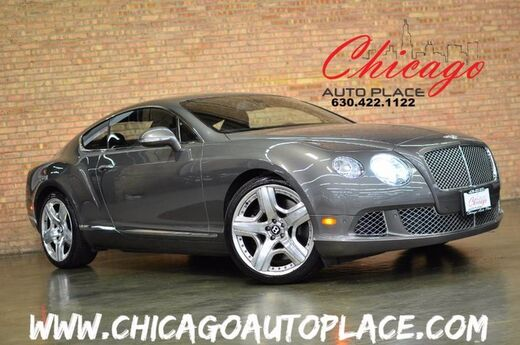 2012 Bentley Continental GT Coupe - 6.0L VVT TWIN-TURBOCHARGED W12 ENGINE AWD MULLINER PACKAGE 4 YEAR SERVICE DONE BLACK LEATHER HEATED/COOLED SEATS Bensenville IL