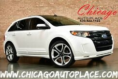 2012_Ford_Edge_Sport - 3.7L TI-VCT V6 ENGINE ALL WHEEL DRIVE BACKUP CAMERA PANO ROOF BLACK/GRAY LEATHER INTERIOR HEATED SEATS BLUETOOTH_ Bensenville IL