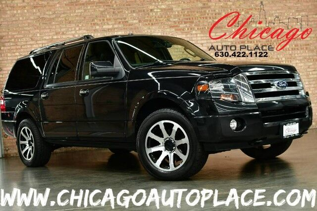 2012 Ford Expedition EL Limited - 5.4L SOHC V8 FFV ENGINE 4 WHEEL DRIVE 1 OWNER BLACK LEATHER HEATED/COOLED SEATS 3RD ROW SEATING Bensenville IL