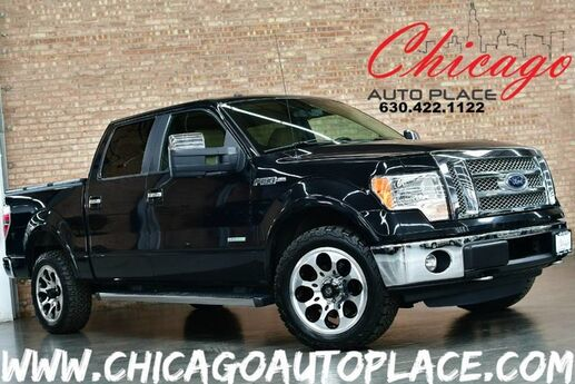 2012 Ford F-150 Lariat - 3.5L V6 ECOBOOST 4WD ENGINE NAVIGATION BACKUP CAMERA TAN LEATHER HEATED/COOLED SEATS WOOD GRAIN INTERIOR TRIM SONY AUDIO MICROSOFT SYNC BLUETOOTH Bensenville IL