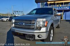2012_Ford_F-150_Platinum / 4X4 / 3.5L Ecoboost / Crew Cab / Heated & Cooled Leather Seats / Sunroof / Sony Speakers / Bluetooth / Auto Start / Back Up Camera / Power Running Boards / USB & AUX Jacks / Block Heater / Bed Liner / Tow Pkg / 1-Owner_ Anchorage AK