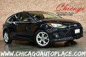 2012 Ford Focus Hatchback Titanium - 2.0L 4-CYL ENGINE 6-SPEED MANUAL TRANSMISSION NAVIGATION BLACK/RED LEATHER INTERIOR HEATED SEATS KEYLESS GO SONY AUDIO