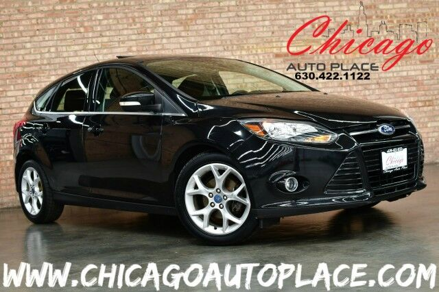 2012 Ford Focus Hatchback Titanium - 2.0L 4-CYL ENGINE 6-SPEED MANUAL TRANSMISSION NAVIGATION BLACK/RED LEATHER INTERIOR HEATED SEATS KEYLESS GO SONY AUDIO Bensenville IL