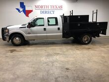 2012_Ford_Super Duty F-350 DRW_DRW Dually 6.7 Diesel Crew Flatbed Tool Boxes Utilty Bed_ Mansfield TX