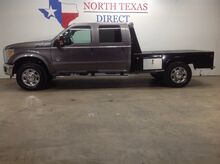 2012_Ford_Super Duty F-350 SRW_XLT 4x4 Diesel Crew Skirted Flat Bed 6 Passenger Bluetooth_ Mansfield TX