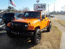 2012_JEEP_WRANGLER_UNLIMITED SAHARA 4X4, BUY BACK GUARANTEE AND WARRANTY, CUSTOM FUEL RIMS, HARD TOP, BEAUTIFUL ORANGE!_ Virginia Beach VA