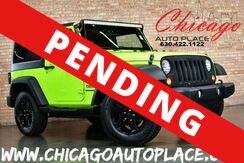 2012_Jeep_Wrangler_Sport - 3.6L VVT V6 ENGINE 4WD BLACK CLOTH INTERIOR GLOSS BLACK WHEELS BLUETOOTH LED LIGHT BAR_ Bensenville IL