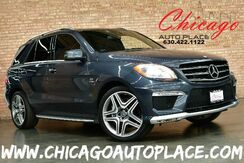 2012_Mercedes-Benz_M-Class_ML 63 AMG - 5.5L BI-TURBO AMG V8 ENGINE ALL WHEEL DRIVE NAVIGATION BACKUP CAMERA BLACK LEATHER HEATED/COOLED SEATS SUNROOF XENONS_ Bensenville IL