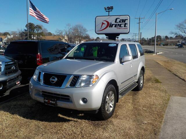 2012 NISSAN PATHFINDER SILVER EDITION 4X4, BUY BACK GUARANTEE AND WARRANTY,  3RD ROW, BOSE SOUND, ROOD RACKS, BACKUP CAMERA Virginia Beach VA