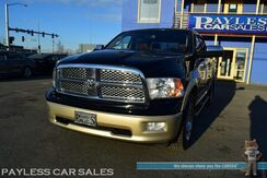 2012_Ram_1500_Laramie Longhorn / 4X4 / 5.7L HEMI V8 / Crew Cab / Heated & Cooled Leather Seats / Heated Steering Wheel / Heated Rear Seats / Alpine Speakers / Sunroof / Navigation / Auto Start / Bluetooth / Back Up Camera / Tow Pkg_ Anchorage AK