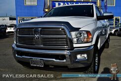 2012_Ram_2500_Laramie / 4X4 / Mega Cab / Heated Leather Seats & Steering Wheel / Navigation / Sunroof / Auto Start / Alpine Speakers / Bluetooth / Back Up Camera / Matching LEER Canopy / Bed Liner / Tow Pkg_ Anchorage AK