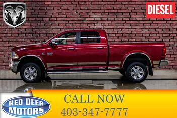 2012_Ram_3500_4x4 Crew Cab Laramie Diesel Leather Roof Nav_ Red Deer AB