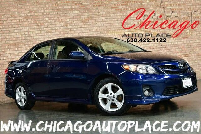2012 Toyota Corolla S - CARFAX CERTIFIED 1 OWNER 1.8L VVT-I I4 ENGINE FRONT WHEEL DRIVE BLACK CLOTH INTERIOR PREMIUM ALLOY WHEELS AUX/USB Bensenville IL