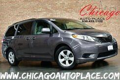 2012_Toyota_Sienna_LE - 3.5L V6 ENGINE FRONT WHEEL DRIVE 1 OWNER GRAY LEATHER BACKUP CAMERA 3RD ROW SEATS DUAL POWER SLIDING DOORS TRI-ZONE CLIMATE_ Bensenville IL