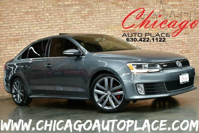 2012 Volkswagen Jetta GLI Autobahn - 2.0L TURBOCHARGED TSI I4 ENGINE FRONT WHEEL DRIVE BLACK LEATHER SPORT SEATS W/ RED STITCHING HEATED SEATS SUNROOF COLOR MATCHED GLI WHEELS Bensenville IL