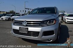 2012_Volkswagen_Touareg_TDI / 4Motion AWD / Turbo Diesel / Power & Heated Leather Seats / Panoramic Sunroof / Navigation / Bluetooth / Back Up Camera / Tow Pkg / 28 MPG / Low Miles / 1-Owner_ Anchorage AK