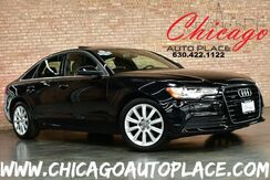 2013_Audi_A6_2.0T Premium Plus - QUATTRO TFSI TURBOCHARGED I4 ENGINE 1 OWNER ALL WHEEL DRIVE NAVIGATION BACKUP CAMERA SUNROOF BLACK LEATHER HEATED SEATS KEYLESS GO XENONS_ Bensenville IL