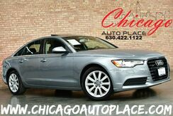 2013_Audi_A6_Premium Plus - 2.0T TFSI TURBOCHARGED I4 ENGINE QUATTRO ALL WHEEL DRIVE NAVIGATION BACKUP CAMERA KEYLESS GO BLACK LEATHER HEATED SEATS WOOD GRAIN INTERIOR TRIM ACTIVE BLINDSPOT_ Bensenville IL