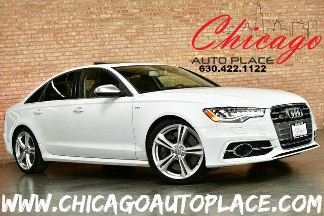 2013 Audi S6 Prestige - 4.0L TSFI TWIN-TURBO CHARGED V8 ENGINE AWD NAVIGATION BACKUP CAMERA TOP VIEW CAMERAS CARBON FIBER INTERIOR BLACK LEATHER W/ DIAMOND STITCHING FRONT + REAR HEATED SEATS Bensenville IL