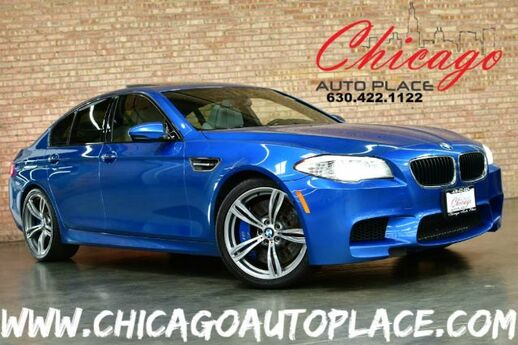 2013 BMW M5 Sedan - 4.4L 560HP V8 ENGINE NAVIGATION TOP VIEW CAMERAS GRAY LEATHER HEATED SEATS SUEDE HEADLINER HEADS-UP DISPLAY KEYLESS GO Bensenville IL