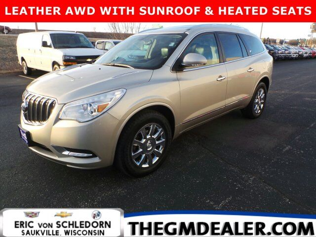 2013 Buick Enclave Leather AWD 7-Passenger w/DualRoof 19sChromes HtdMemLthr IntelliLink RearCamera Milwaukee WI