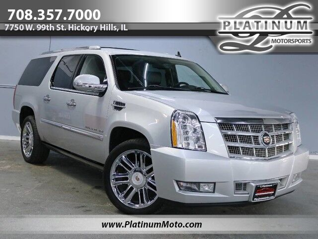 2013 Cadillac Escalade ESV Platinum Edition 2 Owner TV's Roof Fully Loaded Hickory Hills IL