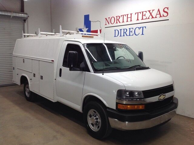 2013 Chevrolet Express Commercial Cutaway 3500 Knapheide Utility Van 1 Ton 6.0 V8 Plumber Electrician Mansfield TX