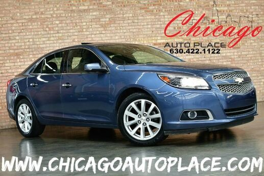 2013 Chevrolet Malibu LTZ - 2.5L 4-CYL SIDI ENGINE 1 OWNER FRONT WHEEL DRIVE NAVIGATION BACKUP CAMERA KEYLESS GO BLACK LEATHER HEATED SEATS PIONEER AUDIO DUAL ZONE CLIMATE Bensenville IL