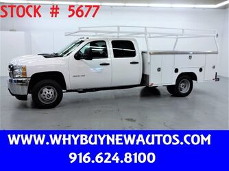 Chevrolet Silverado 3500HD ~ Crew Cab ~ 9ft Utility ~ Only 66K Miles! 2013