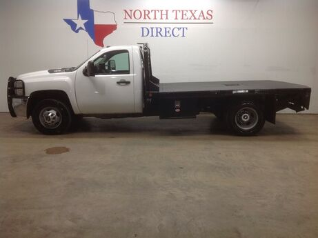 2013 Chevrolet Silverado 3500HD FREE HOME DELIVERY! Diesel Flat Bed Regular Cab Ranch Hand Mansfield TX