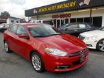 2013 DODGE DART LIMITED, CERTIFIED W/WARRANTY, LEATHER, NAV, BLUETOOTH, BACKUP CAM, REMOTE START, ONLY 56K MILES!!!!
