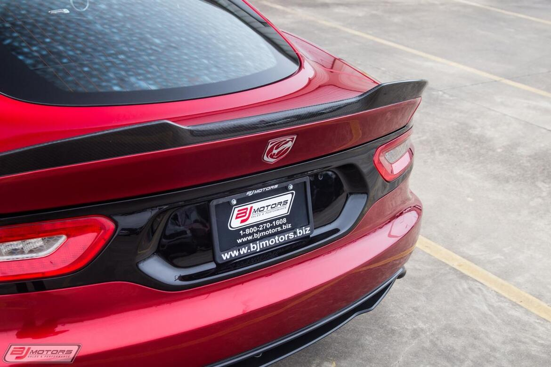 2013 Dodge SRT Viper GTS Stryker Red TA 1.0 Aero Tomball TX