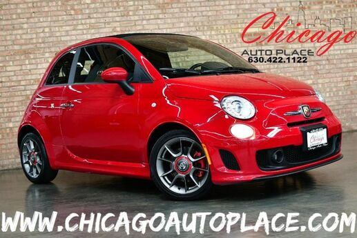 2013 FIAT 500 Abarth Convertible - 1.4L I4 MULTI-AIR TURBO ENGINE 1 OWNER 5-SPEED MANUAL TRANSMISSION FRONT WHEEL DRIVE BLACK CLOTH INTERIOR W/ RED ACCENTS HEATED SEATS Bensenville IL