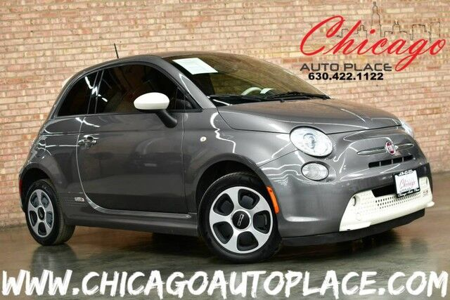 2013 FIAT 500e BATTERY ELECTRIC - FRONT WHEEL DRIVE WHITE LEATHER W/ ORANGE ACCENTS HEATED SEATS BLUETOOTH TINTED GLASS Bensenville IL