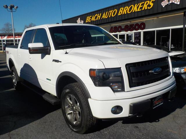 2013 FORD F-150 FX4 4X4, BUYBACK GUARANTEE, WARRANTY, LEATHER, OFF ROAD PKG, HEATED SEATS, SATELLITE RADIO, SWEET!!! Norfolk VA