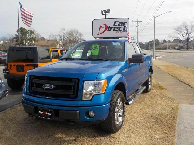 2013 FORD F-150 STX 4X4, BUYBACK GUARANTEE, WARRANTY, CD PLAYER, BLUETOOTH, TOW PKG, BEAUTIFUL BLUE!!! Virginia Beach VA