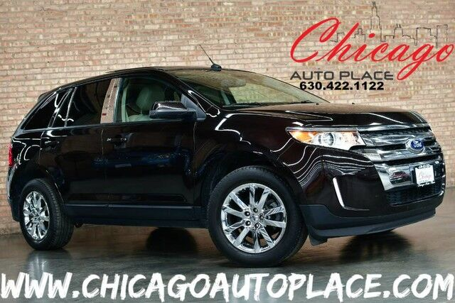 2013 Ford Edge SEL - 3.5L TI-VCT V6 ENGINE FRONT WHEEL DRIVE NAVIGATION BACKUP CAMERA BEIGE LEATHER PANO ROOF WOOD GRAIN INTERIOR TRIM CHROME WHEELS Bensenville IL