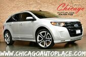 2013 Ford Edge Sport-AWD 3.7L TI-VCT V6 ENGINE ALL WHEEL DRIVE NAVIGATION BACKUP CAMERA KEYLESS GO PANO ROOF BLACK/GRAY LEATHER INTERIOR HEATED SEATS BLUETOOTH