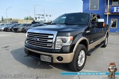 2013_Ford_F-150_Lariat / Off-Rd Pkg / 4X4 / Crew Cab / Auto Start / Heated Leather Seats & Steering Wheel / Sony Speakers / Navigation / Sunroof / Bluetooth / Back Up Camera / Rigid Light Pods / Tow Pkg / Block Heater_ Anchorage AK