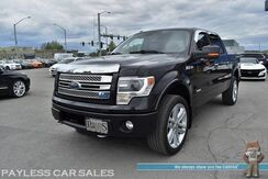 2013_Ford_F-150_Limited / 4X4 / Crew Cab / Ecoboost / Auto Start / Heated & Cooled Leather Seats / Sony Speakers / Sunroof / Navigation / Bluetooth / Back Up Camera / Aluminum Wheels / Bed Liner / Tow Pkg_ Anchorage AK