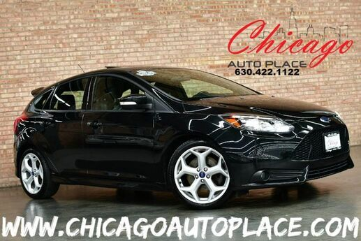 2013 Ford Focus ST - 2.0L GTDI I4 ECOBOOST ENGINE 6 SPEED MANUAL 1 OWNER NAVIGATION KEYLESS GO BLACK LEATHER SPORT SEATS HEATED SEATS SUNROOF SONY AUDIO Bensenville IL