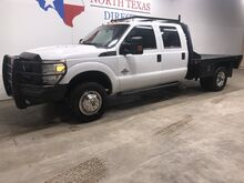 2013_Ford_Super Duty F-350 DRW_XL 4x4 Diesel Dually Crew Flatbed 5th Wheel 6 Passenger_ Mansfield TX