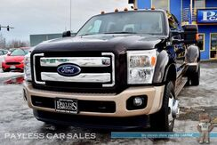 2013_Ford_Super Duty F-450_King Ranch Dually / FX4 Off-Road Pkg / 6.7L PowerStroke Diesel / 4X4 / Crew Cab / Heated Front & Rear Leather Seats / Auto Start / Sony Speakers / Sunroof / Navigation / Bluetooth / Back-Up Camera / Bed Liner / Tow pkg / 1-Owner_ Anchorage AK