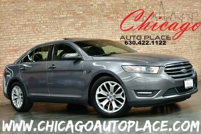 2013 Ford Taurus Limited - 3.5L TI-VCT V6 ENGINE FRONT WHEEL DRIVE BLACK LEATHER HEATED/COOLED SEATS KEYLESS GO SONY AUDIO SUNROOF WOOD GRAIN INTERIOR TRIM Bensenville IL