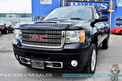2013_GMC_Sierra 2500HD_Denali / 4X4 / Crew Cab / 6.0L V8 / Heated Leather Seats / Heated Steering Wheel / Navigation / Sunroof / Rear Entertainment / Bose Speakers / Auto Start / Back-Up Camera / Bed Liner / Tow Pkg_ Anchorage AK