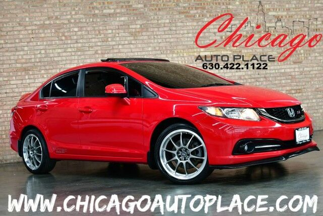2013 Honda Civic Sedan Si - 2.4L iVTEC I4 ENGINE 6 SPEED MANUAL TRANSMISSION FRONT WHEEL DRIVE BLACK CLOTH SPORT SEATS W/ RED STITCHING BACKUP CAMERA BLUETOOTH CARBON FIBER INTERIOR TRIM Bensenville IL