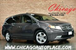 2013_Honda_Odyssey_Touring - 1 OWNER CLEAN LOCAL TRADE LOW MILES NAVIGATION MULTI-VIEW BACKUP CAMER DUAL POWER SLIDING DOOR REAR TV 3RD ROW SEATING GRAY LEATHER HEATED SEATS_ Bensenville IL