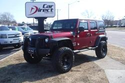 JEEP WRANGLER UNLIMITED SPORT 4X4, CARFAX CERTIFIED, LIFTED, OFF ROAD TIRES, HARD TOP, LOW MILES, ONLY 59K, RARE!! 2013